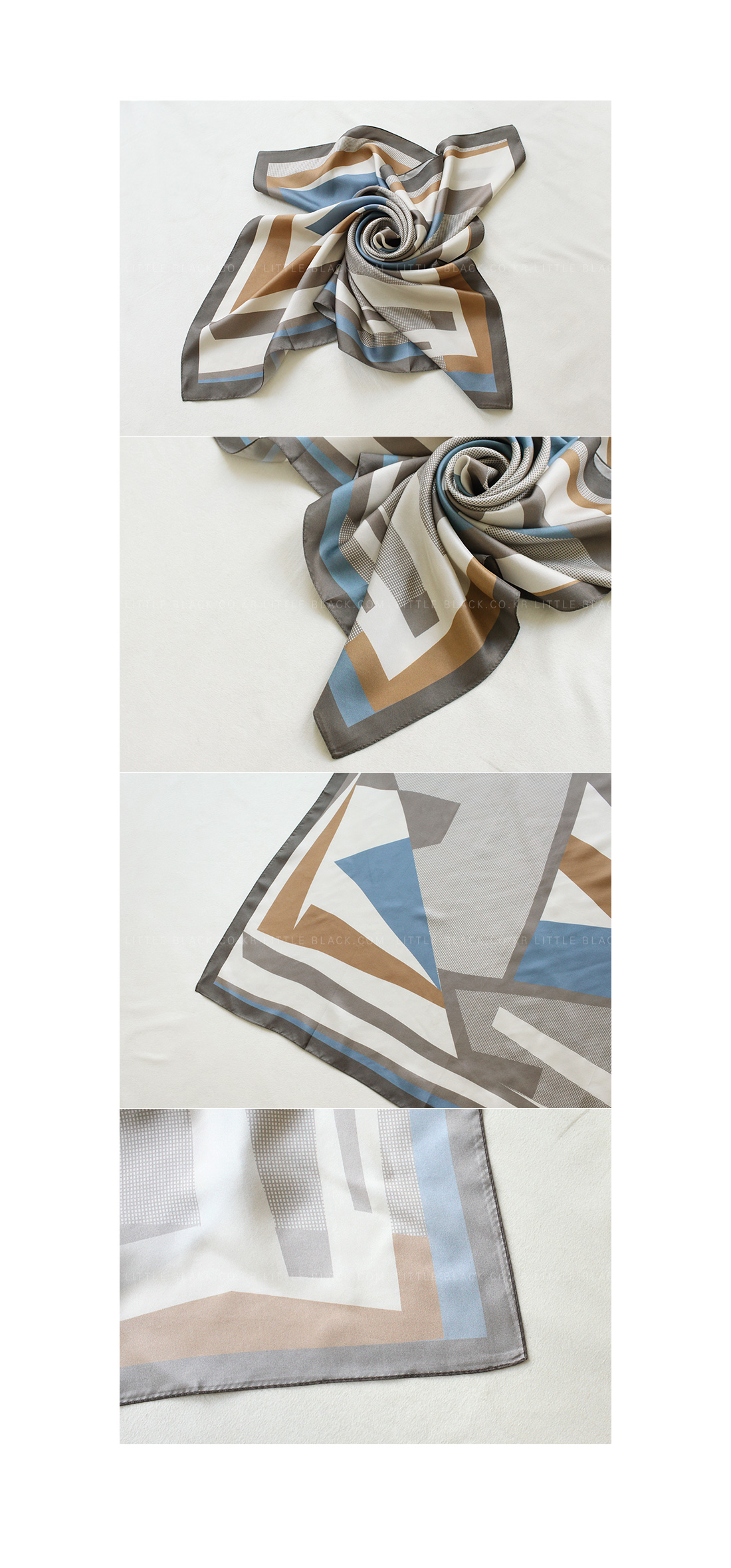 Color Blocking Print Scarf|