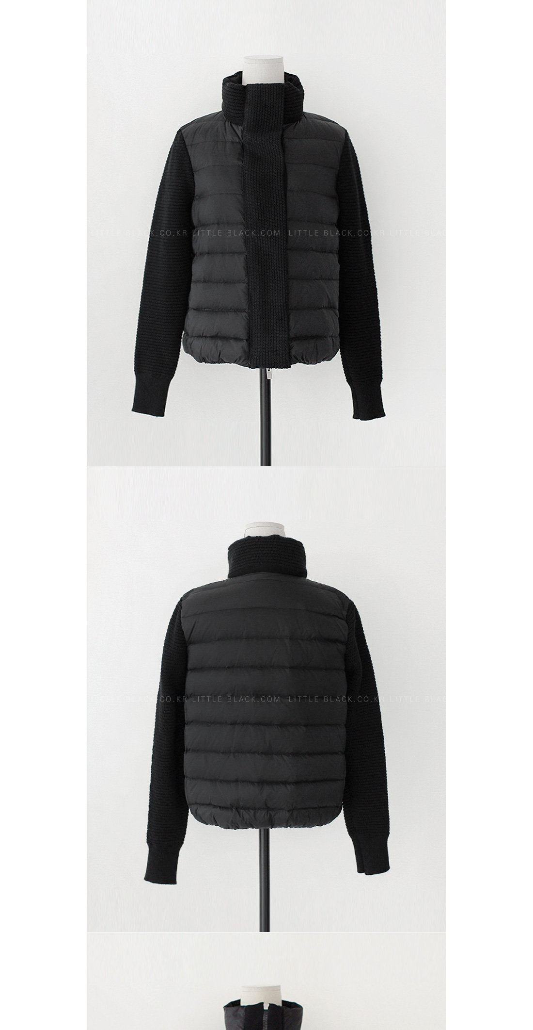 Knit Sleeve Puffer Jacket|