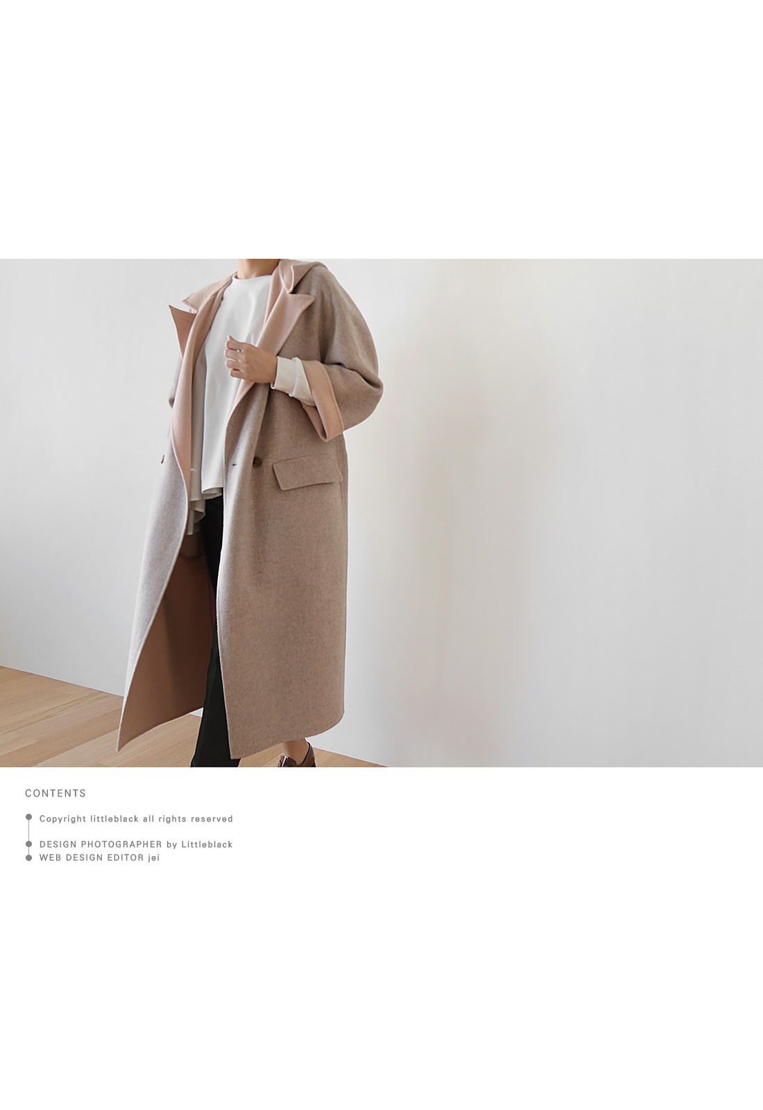 Notched Lapel Hooded Coat|