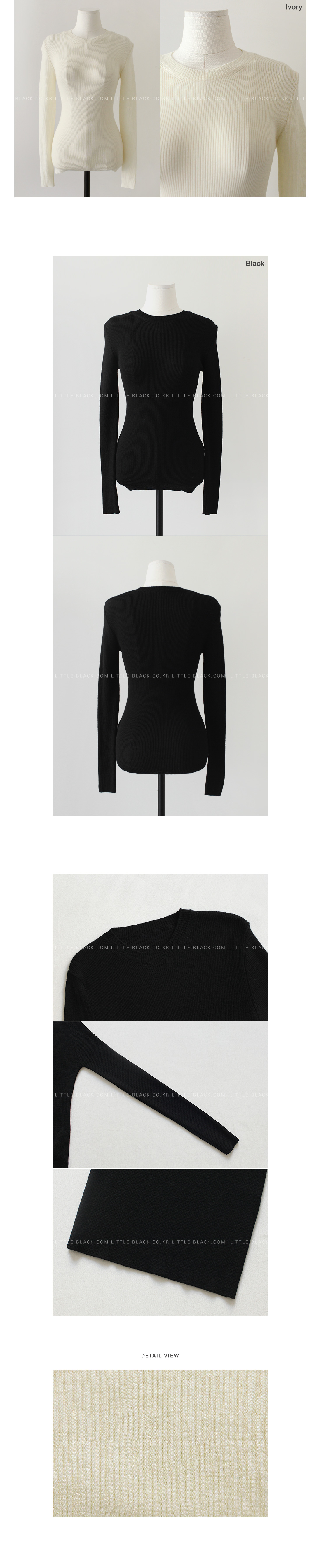Long-Sleeved Wool Knit Top|