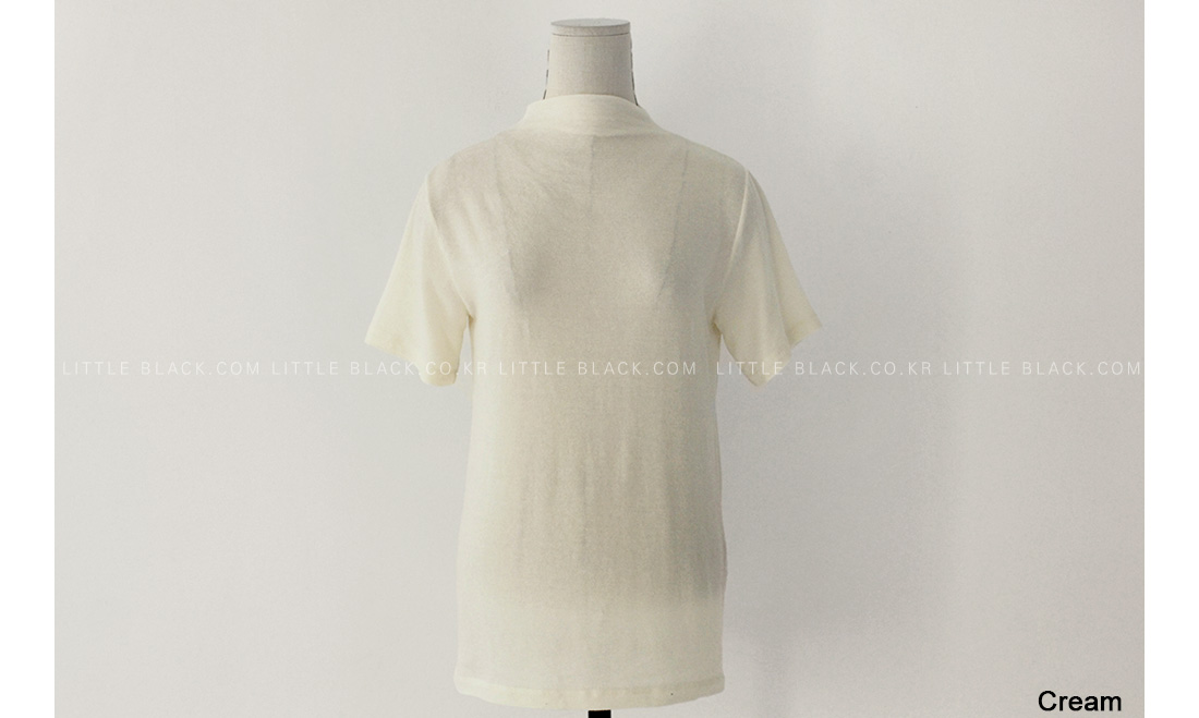 Mock Neck Short Sleeve Top|