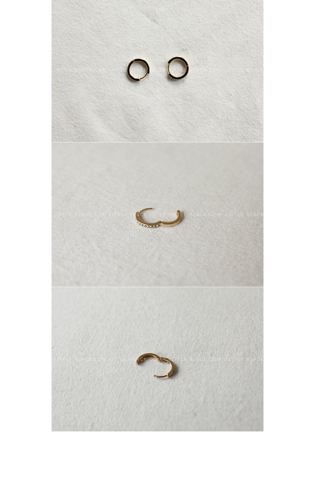 Rhinestone Hoop Earrings|