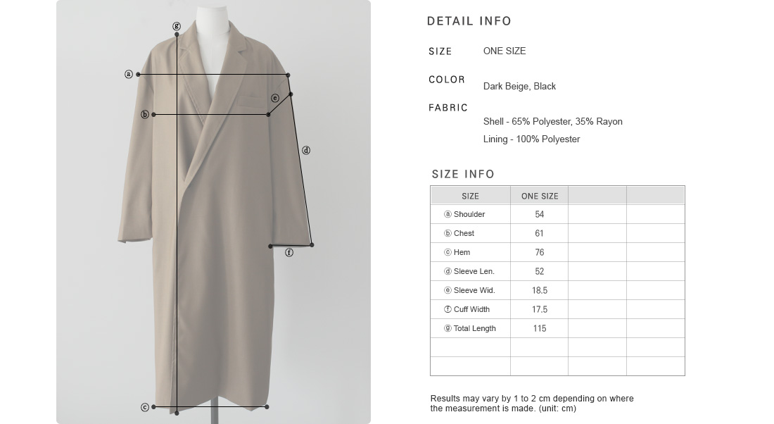 Concealed Button Closure Longline Coat|