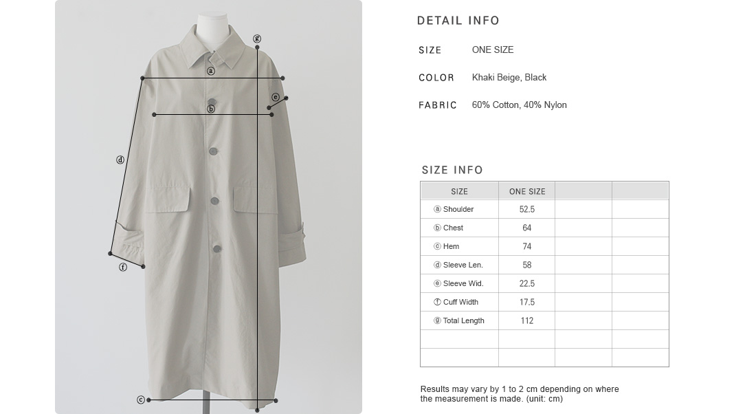 Buttoned Sleeve Strap Trench Coat|