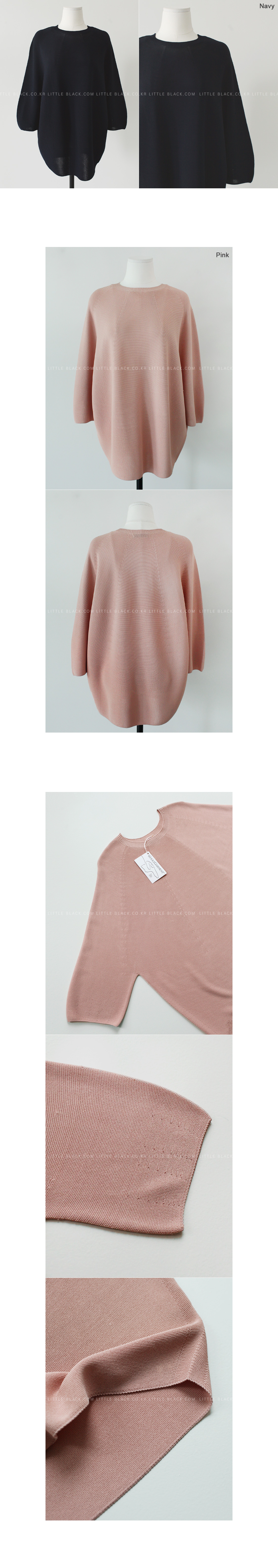 Whole Garment 3/4 Sleeve Knit Top|