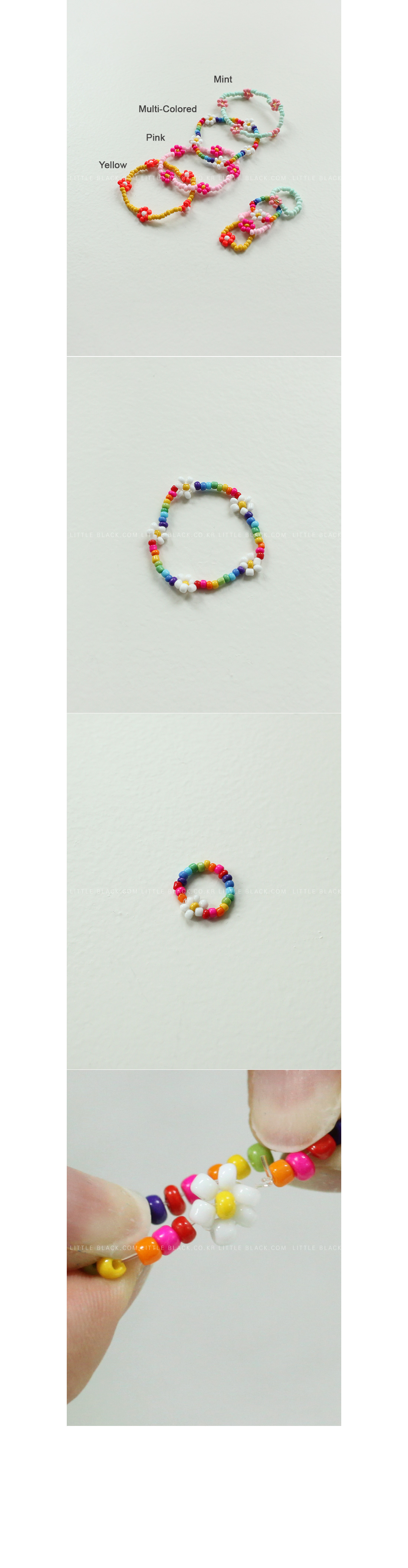 Bead Bracelet and Ring Set|