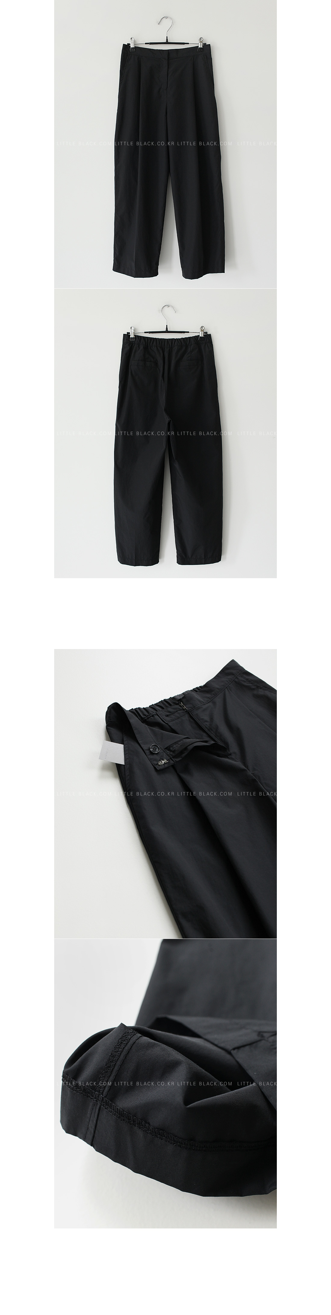 Concealed Fly Semi-Elasticated Waist Pants|