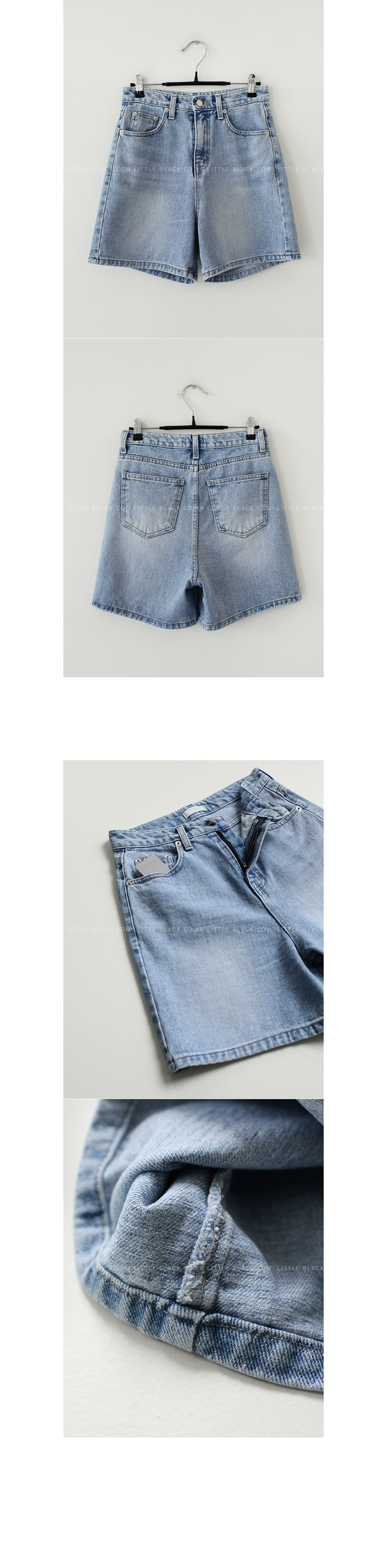 Tobacco Stitch Denim Shorts|