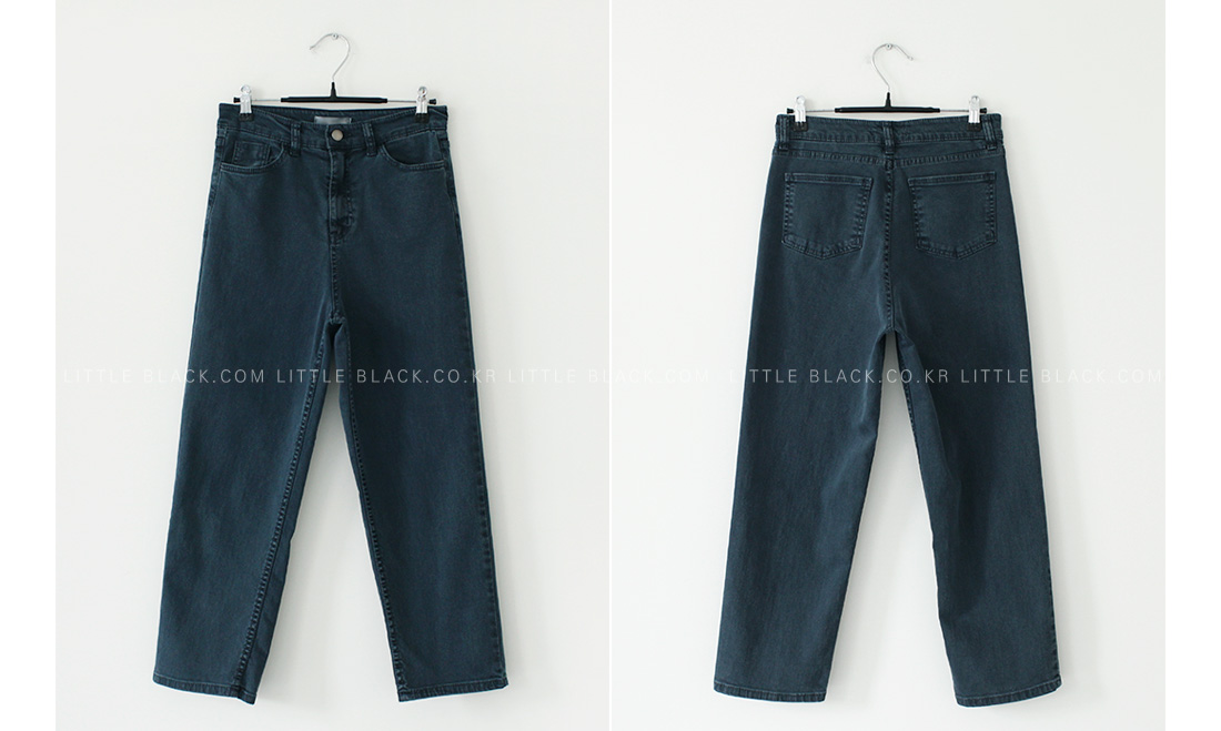 Dark Wash Straight-Cut Jeans|