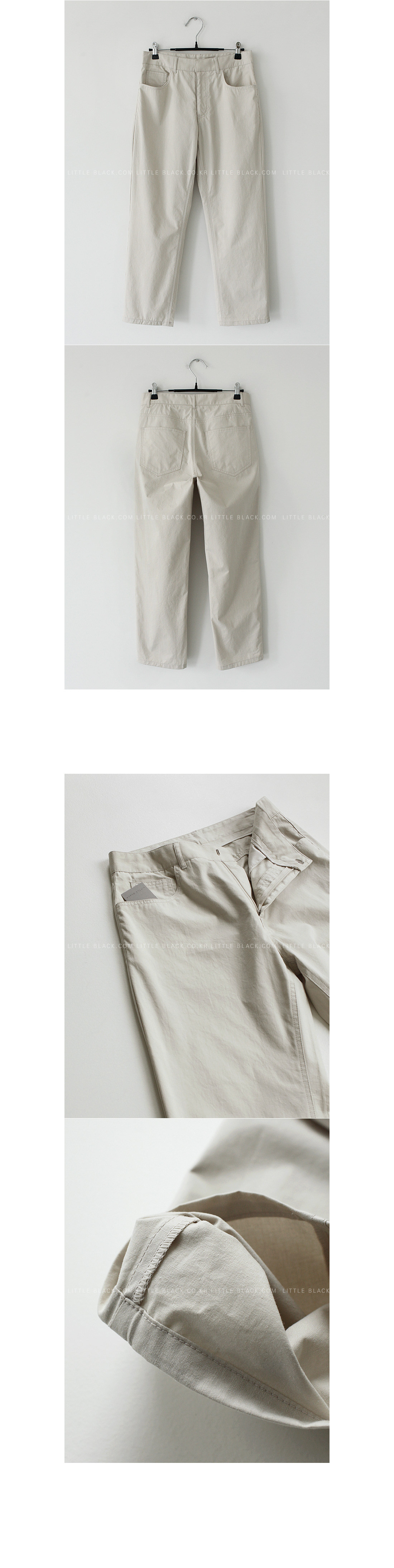 Straight-Cut Cotton Pants|