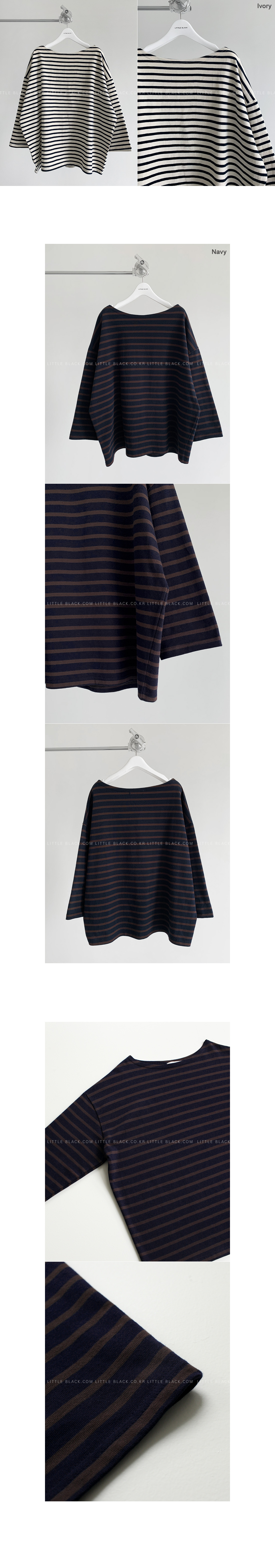 Relaxed Fit Striped Top|