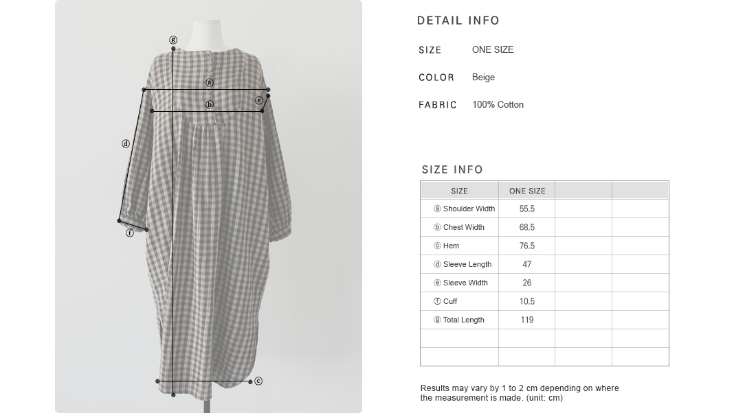 Buttoned Placket Smock Dress|