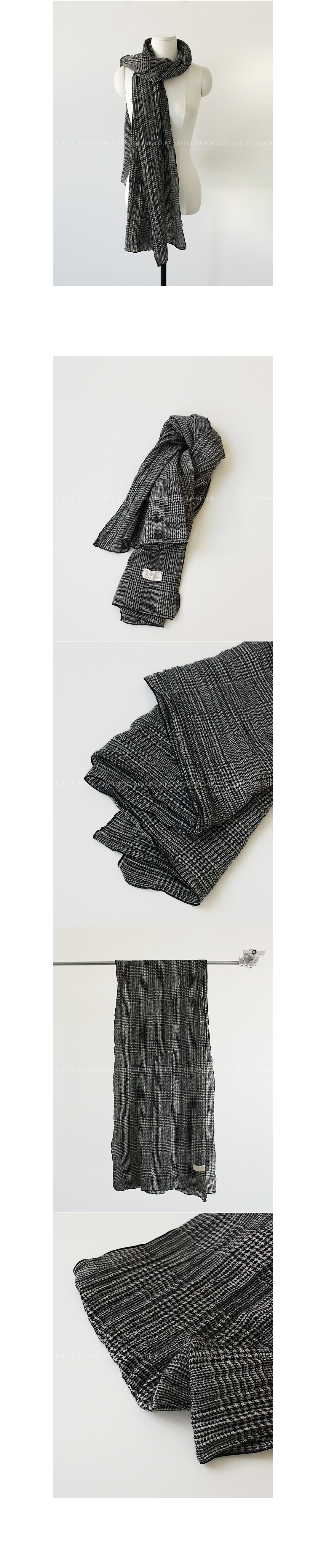 Check Pattern Wool Scarf|