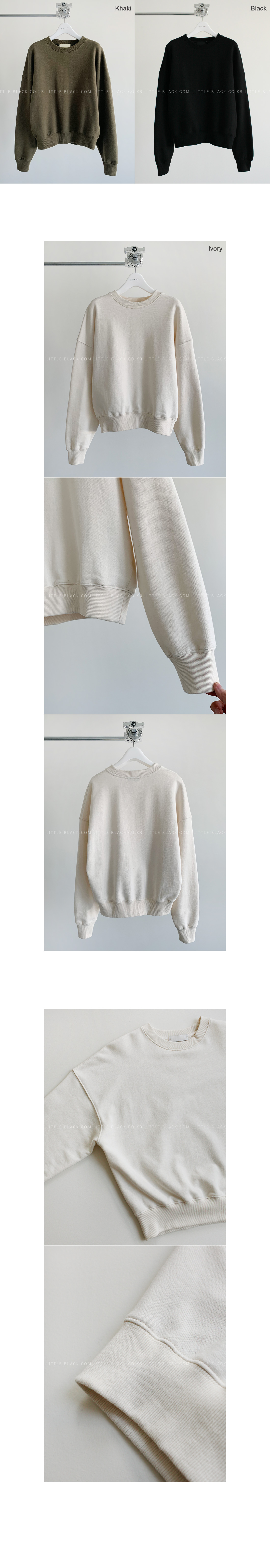 Cotton Ribbed Edge Sweatshirt|