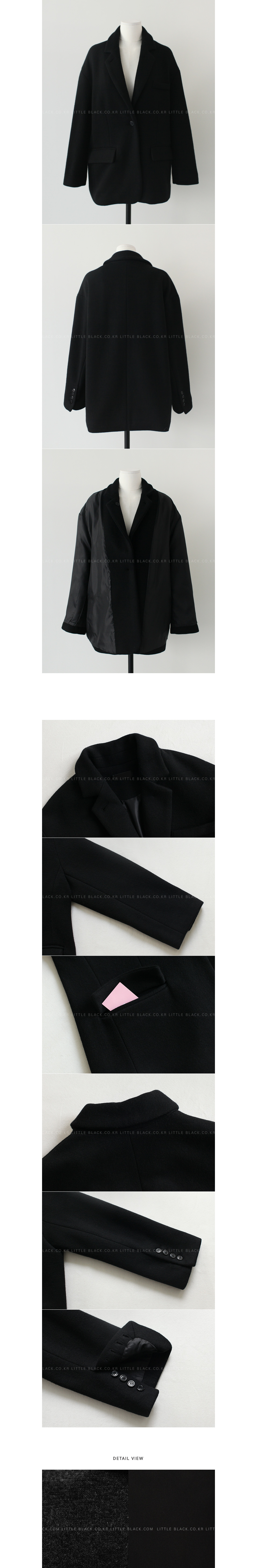 Single-Breasted Notched Lapel Blazer|