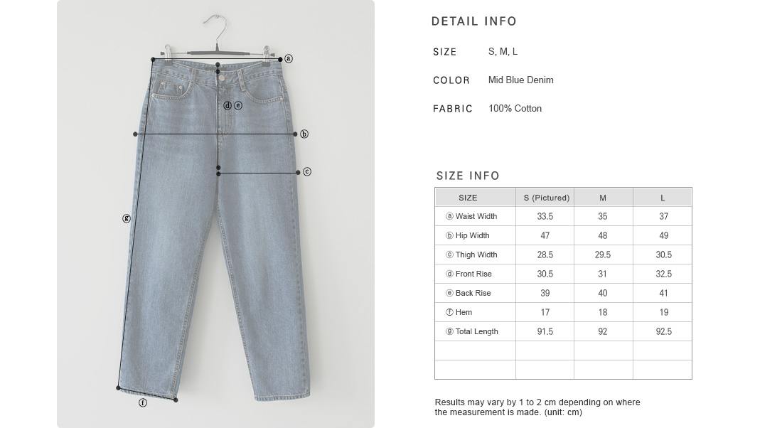 Basic Straight-Cut Jeans|