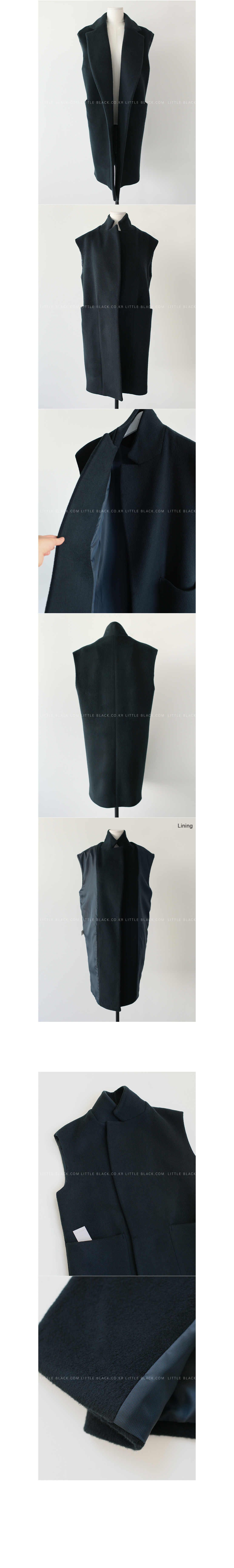 Notch Lapel Longline Vest|