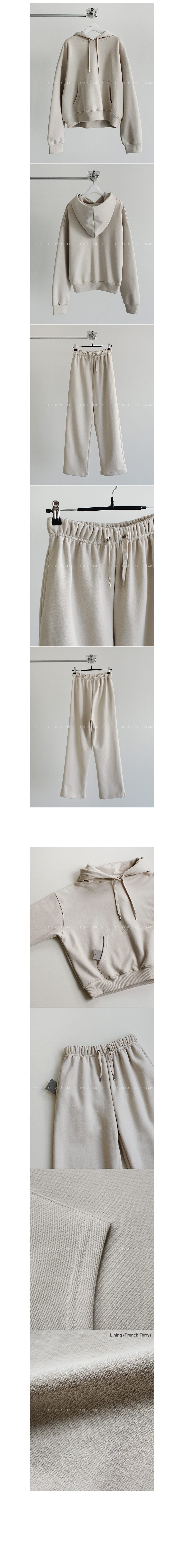 Dropped Shoulder Hoodie And Wide Leg Pants|