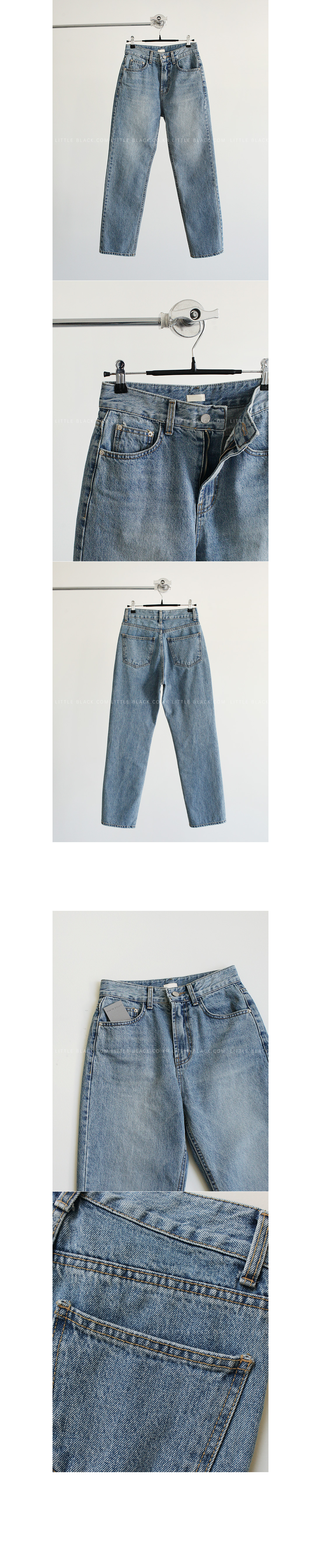 Light Wash Straight Leg Jeans|