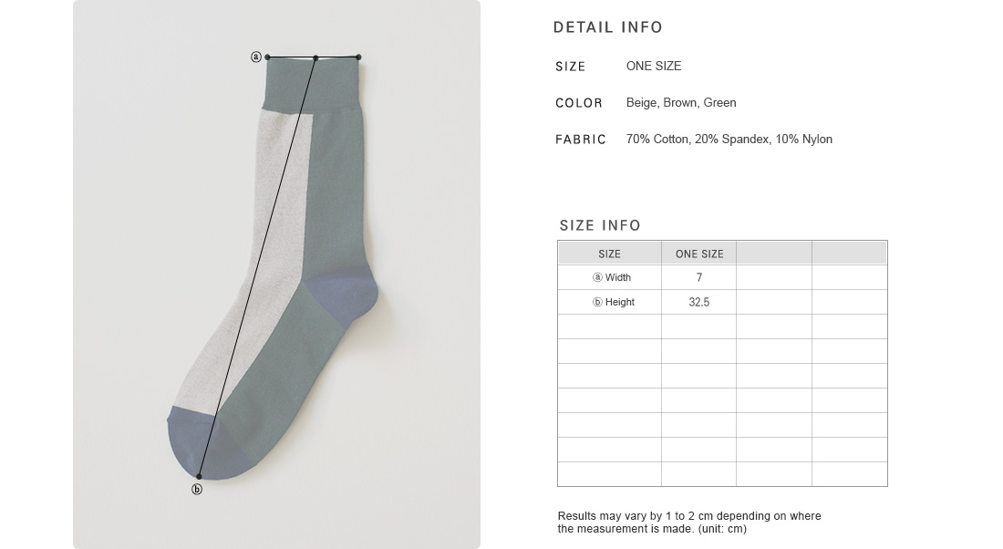 Color Block Crew Socks|