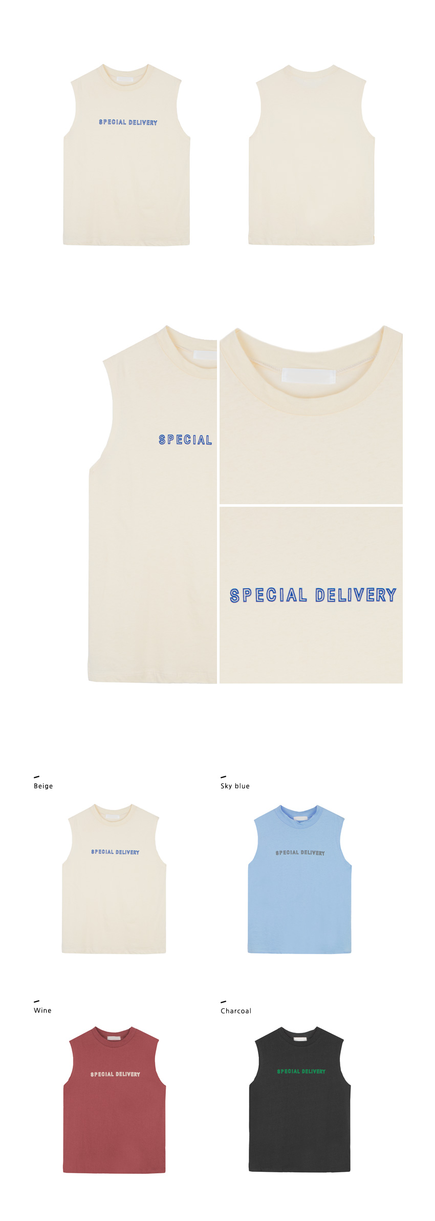 SPECIAL DELIVERY Print Sleeveless Shirt|