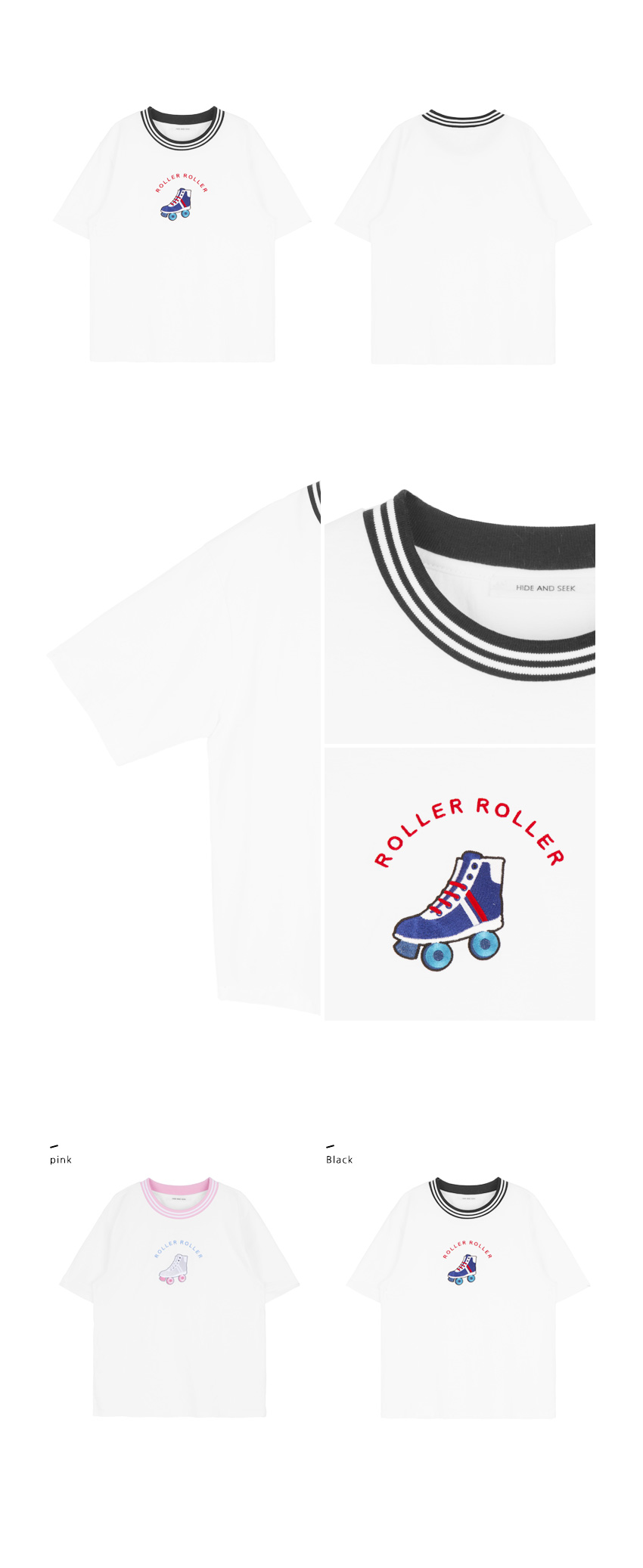 Embroidered Roller Skates T-Shirt|