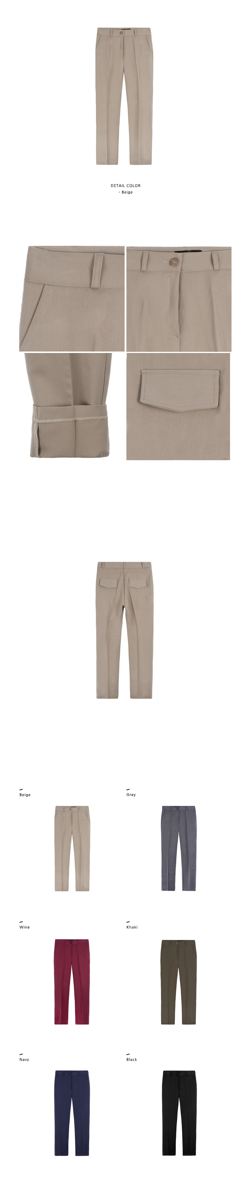Basic 4-Pocket Slacks|