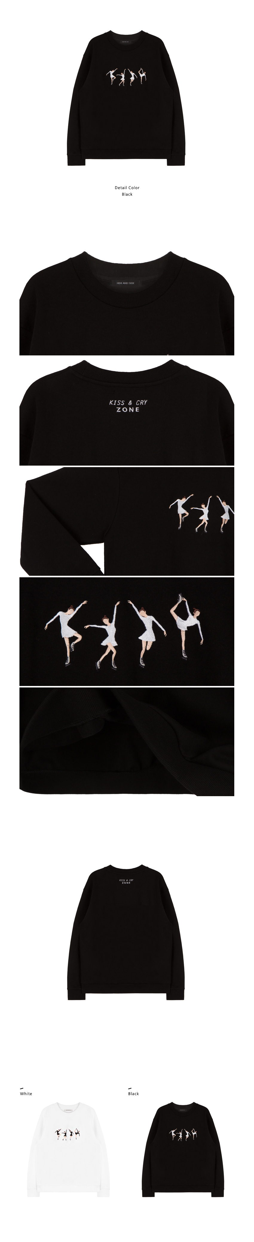 Embroidered Ice Skater Girl Sweatshirt|