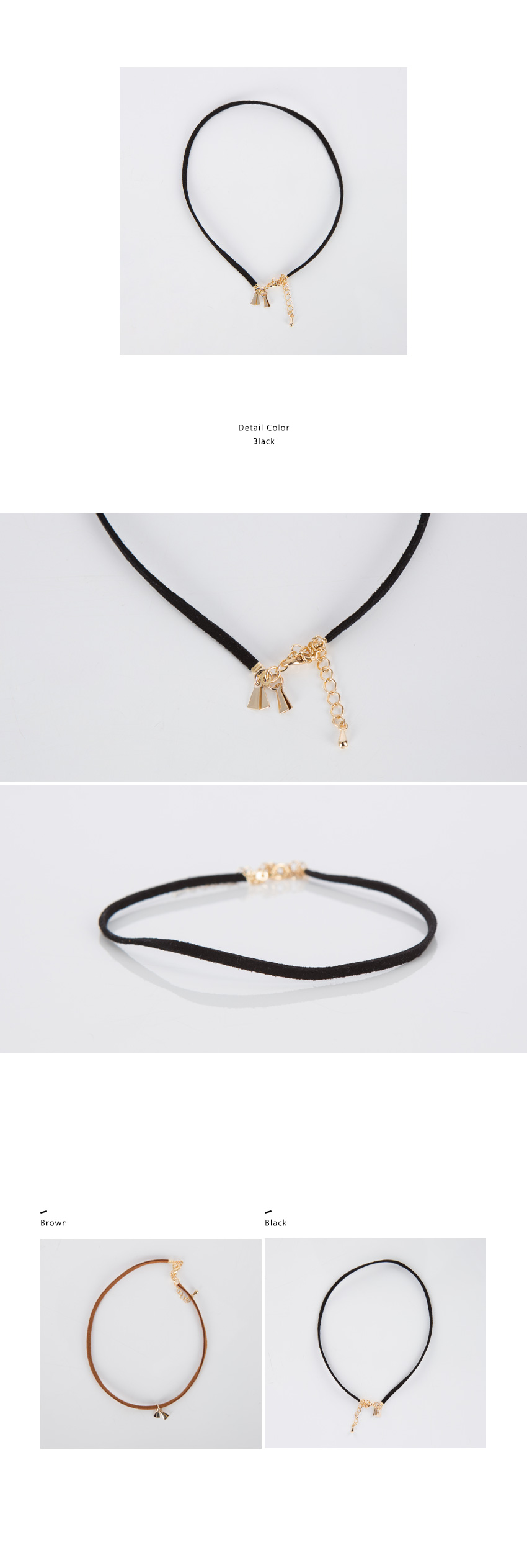 Faux Suede Choker With Golden Pendant|