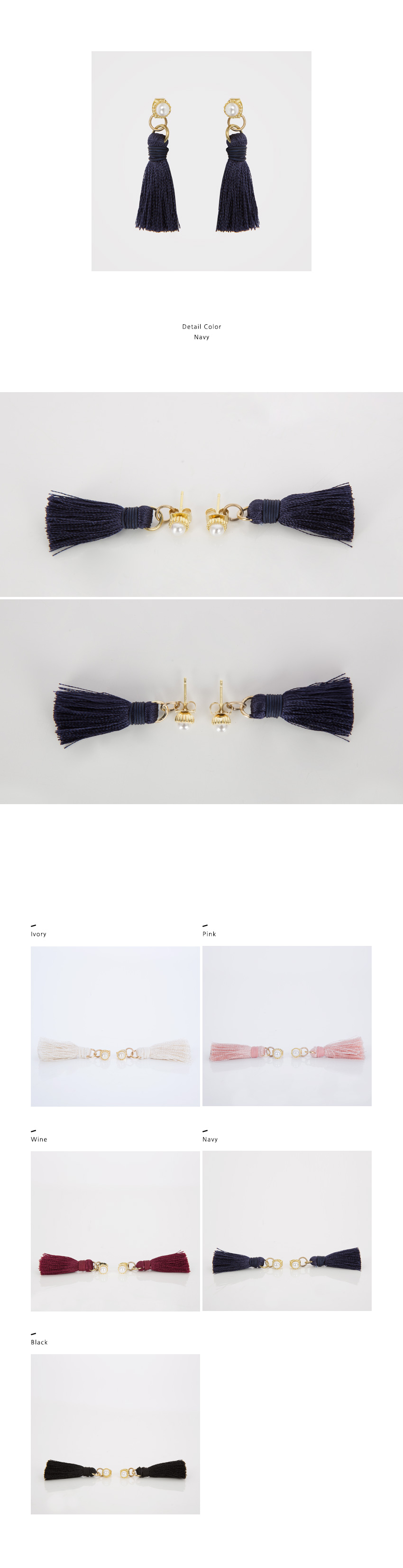 Pearl Stud With Tassel Earrings|