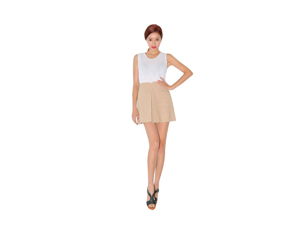 服装画手绘技法短裙