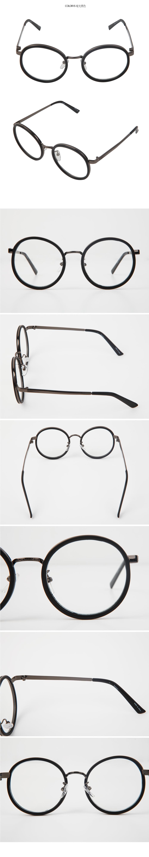 双重金属圆框眼镜