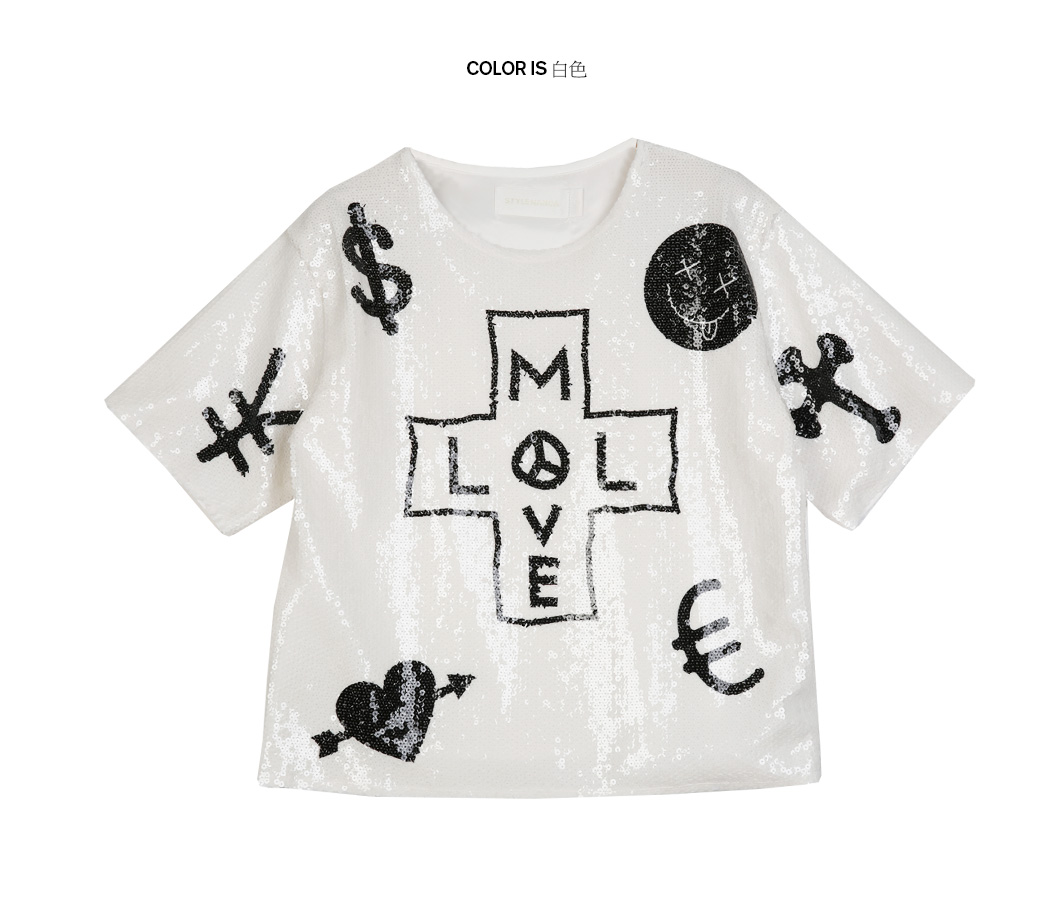 _t=t_[p000hpvt] 时尚多图案点缀亮片半袖t恤