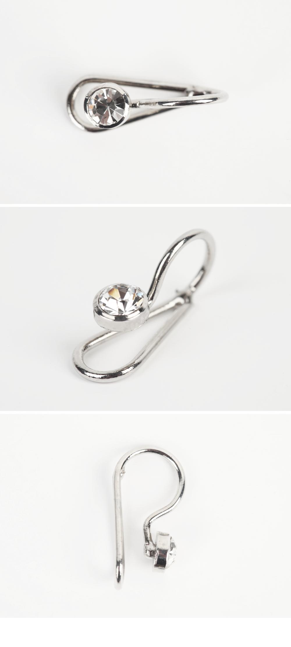 鑲鑽閃亮耳飾|stylenanda