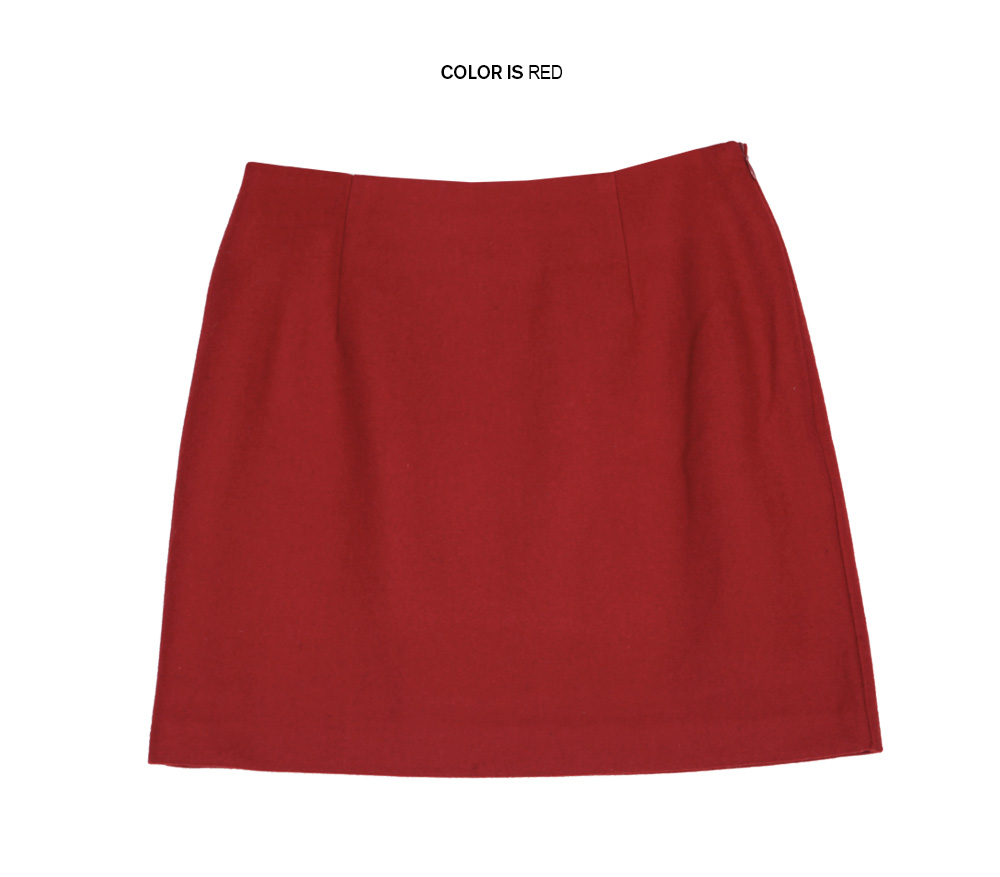 Colored Woolen Mini Skirt|stylenanda