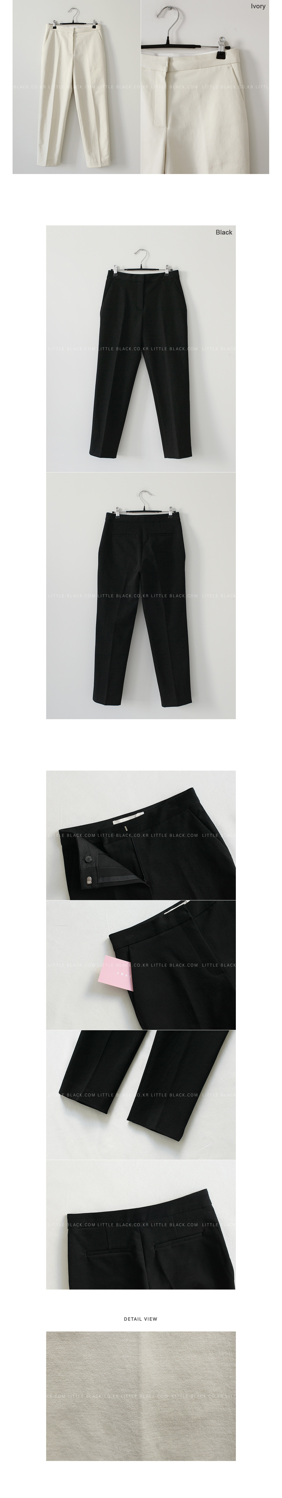 Front Crease Straight-Cut Pants|