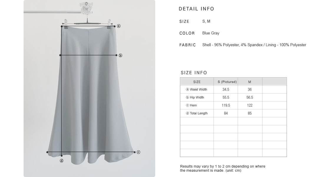 Front Seam Flared Skirt|