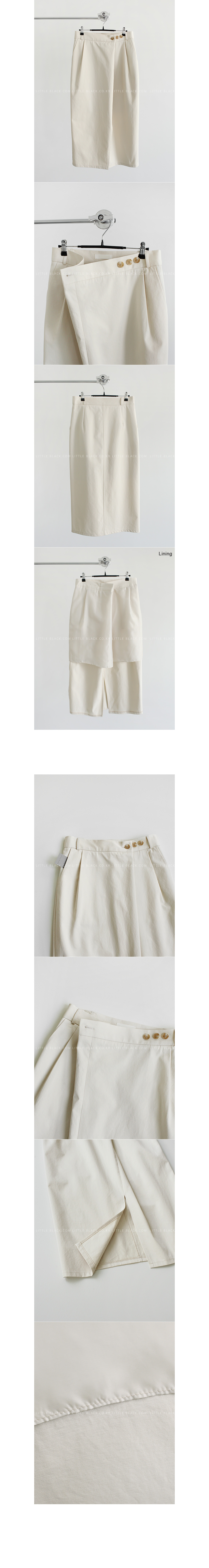 Front Pleat Wrap Skirt|