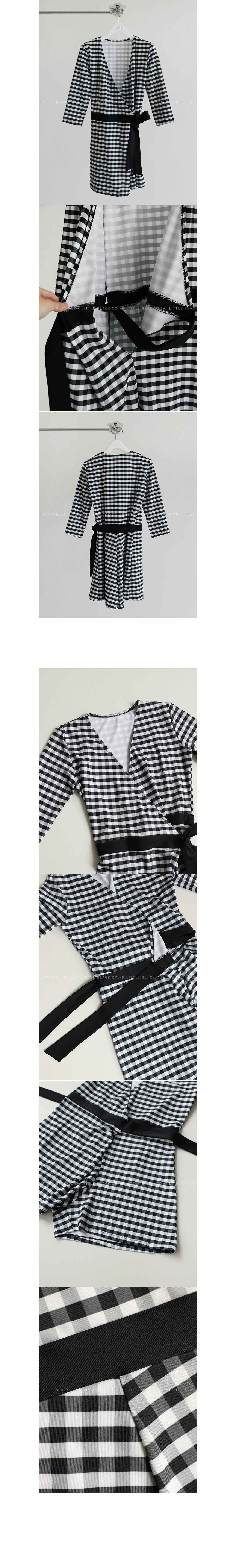Gingham Check Wrap Swimsuit|